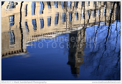 Reflection of New Mill in the River Aire (© Mark Sunderland www.marksunderland.com) Tags: architecture blue bluewater britain britishisles builtheritage england europe gb greatbritain heritage mill newmill northernengland reflection river riveraire saltaire saltsmill textilesindustry textilesmill travel uk unesco unitedkingdom victorian water westyorkshire worldheritagesite yorkshire