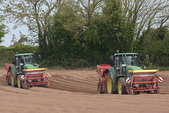 John Deere 6150M Tractors with Grimme GR300 Front cultivator & Fertilizer Box with Grimme GB215 Potato Planters (Shane Casey CK25) Tags: john deere 6150m tractor grimme gr300 front cultivator fertilizer box gb215 potato planter fermoy traktor traktori tracteur trekker trator ciągnik potatoes spuds spud tatties sow sowing set setting drill drilling tillage till tilling plant planting crop crops cereal cereals county cork ireland irish farm farmer farming agri agriculture contractor field ground soil dirt earth dust work working horse power horsepower hp pull pulling machine machinery grow growing nikon d7200 jd green
