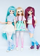Azone Pure Neemo Sahra - pure love! (vanyrei) Tags: azone pureneemo sahra strawberry mint blond hair red cute kawaii pastel color reroot doll dolls alamode