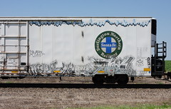 Vital/Size21 (quiet-silence) Tags: graffiti graff freight fr8 train railroad railcar art vital size21 dnb railheads bnsf icicle reefer bnsf793217