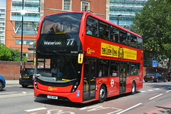 YX18 KWW (EH285) Go-Ahead London General (hotspur_star) Tags: londontransport londonbuses londonbus londonbuses2018 alexanderdennisltd enviro400hmmc tfl transportforlondon hybridbus hybridtechnology busscene2018 doubledeck goaheadlondongeneral yx18kww eh285 77