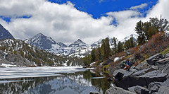 Storm Brewing - 850 (simpsongls) Tags: lakes landscape water mountains peakssnow ice longlake hiking fishing mountain wood sky tree snow