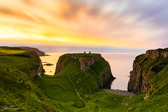 Dunseverick Castle, N.Ireland (PerfectCaptureNI) Tags: dunseverick castle sunset colour lowcloud cloud horizon ruins history northernireland ireland countyantrim northcoast coastal rocks grass longexposure scenic travel tourism ulster cliff sea