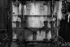 Under Control (David Guidas) Tags: boxcars trains metal rust old antique texture nikon railroads cargo arden d750 monochrome blackandwhite topaz industry