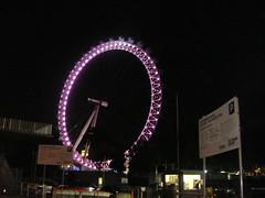 London Eye at Night (Rckr88) Tags: london unitedkingdom united kingdom eye night londoneyeatnight eyelondon eyenightslightlightswheelenglandeuropegreat britain great travelling travel city cities