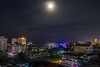 Moonlight over Phnom Penh, Cambodia (AlainBadoual) Tags: asia cambodia cambodge phnompenh asie urbanscape night nuit moon lune tonle sap mekong wat oulanom kandal market moonlight