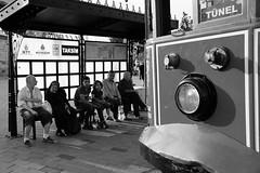 Tram stop (K.BERKİN) Tags: way turkey tourism tram tramstop human oldcity oldstreet people photo antique street streetphoto streetphotograpy sony6300 goldenhorn life istanbul istiklal city blackwhite bosphorus beyoglu mirroless naturel