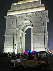 Delhi Rajpath 14 - (juggadery) Tags: 2015 india delhi urban architecture ornament decoration people work police leisure hdralike