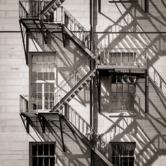 escape art (jtr27) Tags: dscf9416xl4 jtr27 fuji fujifilm xt20 xtrans xf 50mm f2 f20 rwr wr fireescape fire escape square line shadow augusta maine statehouse newengland architecture blackandwhite bw nb monochrome steps stairs