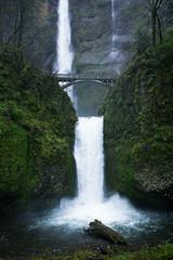 Multnomah Falls (MikeWeinhold) Tags: multnomahfalls columbiarivergorge oregon waterfall bridge nature green spring 6d 1740mm