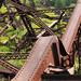 Destroyed Wrought Iron Trestle Bridge