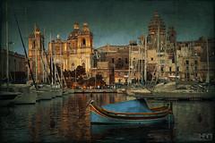 Birgu (www.johanhannes.com) Tags: valletta malta harbour birgu haven bluehour city cityscape citylights boats boat texture