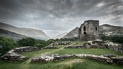 Castell Dolbadarn (Nathan J Hammonds) Tags: castle castell dobadarn north wales uk landscape stone mountains snowdonia national park llanberis bracketed nikon d750 irex15mm clouds moody sky grass walls history hdr