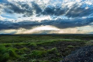 Misty sky in Iceland