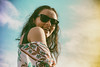 Beautiful smile (João Textor) Tags: girlfriend frombelow girl smile artistic sunglasses woman below beautiful smiling gorgeous shoulder overtheshoulder