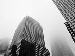 hip to be square! (m_laRs_k) Tags: square skyscrapers fog nyc bw usa manhattan omd 7dwf thursday monochrome monotone lightroomed noir wtc wfc 纽约 ньюйо́рк cof cof038mari cof038dmnq cof038ettigirbs cof0381elf cof038mvfs cof038chri cof038ally cof038uki