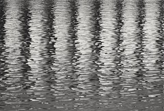 B & W (carlos_ar2000) Tags: abstracto abstract agua water arte art reflejo reflected reflection surreal onda wave buenosaires argentina