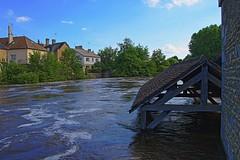 Qui l'eût crue II (Tonton Gilles) Tags: alençon normandie hdr rivière sarthe crue inondation paysage urbain gué de