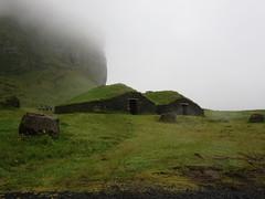 Turf houses, Heimaey, Westman Islands, Iceland (Travel writer at KristineKStevens.com) Tags: iceland heimaey westmanislands vestmannaeyjar island
