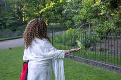 DSC_2381 (photographer695) Tags: wintrade rest recreation hyde park london feeding parakeet birds with nicole ross