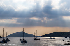 Sounion safe haven (PapaPiper (Travelling with my camera)) Tags: greece attica athens sounion sunset seascape boats safehaven europe sea aegean