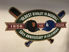 """Oldest Rivalry in Baseball Sign at Dodger Stadium • <a style=""""font-size:0.8em;"""" href=""""http://www.flickr.com/photos/109120354@N07/42387167182/"""" target=""""_blank"""">View on Flickr</a>"""