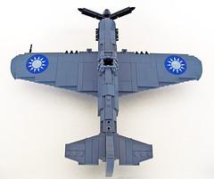 "Curtiss P-40E ""Flying Tigers"" (John C. Lamarck) Tags: lego jie star aircraft plane avion ww2 fighter usa brickmania"
