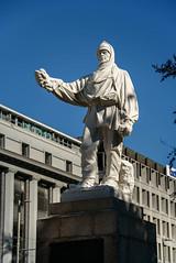 Scott Statue (Jocey K) Tags: newzealand nikond750 christchurch building architecturerobertfalconscottstatue marblestatue sky