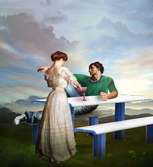 Serve the wine (jaci XIII) Tags: mesa pessoa casal mulher homem adão vinho table man couple woman adam wine