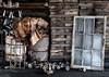 Klotz Throwing Company (Jeff Milsteen) Tags: klotz throwing company abandoned silk mill western maryland milsteen window pane bobbins spools