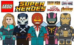 More Amazing Lego Superheroes Custom Minifigures !!! (afro_man_news) Tags: lego minifigures moc custom all new marvel dc cable deadpool venom batman groot spiderman hulk iron man mark 20 captain superheroes wolverine infinity war black widow crossbones superman spider 2211 art ricochet hornet