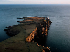 Isle of Skye (marinaweishaupt) Tags: scotland landscape isleofskye nature aerial sunset goldenhour travel outdoors drone lighthouse light sunlight ocean sea seaside