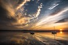 Morning calm. (AlbOst) Tags: morning morninglight clouds sunrise calm reflections riverforth boness boats