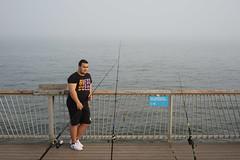Fisherman (dtanist) Tags: brooklyn nyc newyork newyorkcity new york city sony a7 contax zeiss carlzeiss carl planar coney island boardwalk steeplechase pier sea fishing fisherman pole rod