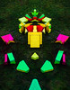 What is a Shape? (Steve Taylor (Photography)) Tags: shape mirror formation digitalart art colourful green yellow red pink newzealand nz southisland canterbury christchurch cbd city grass