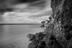 don't tell me goodnight (Lamson/Ng) Tags: sea reflecting ponder goodnight bw monochrome beach barbados thoughts deepthoughts