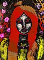 Dark Version (Lindsaywhimsy) Tags: girl portrait impressionism painting