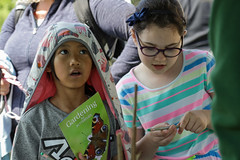 Edinburgh Botanic Gardens BioBlitz 2018 -152 (Philip Gillespie) Tags: • edinburgh royal botanic gardens 2018 big bioblitz bio blitz kids children men women man woman people fun faces smiles water wet insects bugs moths spiders legs arms eyes hats grass trees bushes plants short pool sun sky pond lilly wings park nature colour green blue red yellow orange purple science teach record check house cottage photo photography canon 5dsr rbgenature thebotanics dipping worms birds bigbotanicsbioblitz