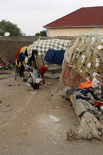 Poor dwellings in Borama