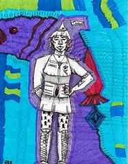 taako (jillian rain snyder) Tags: podcast fanart multimedia lines marker illustration dungeonsanddragons wizard abstract art umbrastaff taako theadventurezone taz