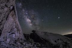 The Milky Way Rocks! (slworking2) Tags: anzaborrego anzaborregodesertstatepark splitmountain caves windcaves sandstone geology rocks night nighttime nightsky california californiastateparks desert milkyway