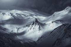 The Dark Peak (albert dros) Tags: iceland mountain peak snow dark mordor albertdros telezoom intimate mood light lightplay tourism travel