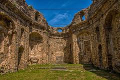 Bajardo Old Church Inside (Tony Howsham) Tags: canon eos70d sigma 18250 italian church bajardo liguria italy ruin ruins disaster earthquake