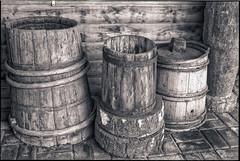 Wooden barrels (Dr Alex O Shevchenko) Tags: wood bw monochrome analogue 135 nikon f4 nikkor 5014 ilford delta400 ilforddelta400 iso400 film d76