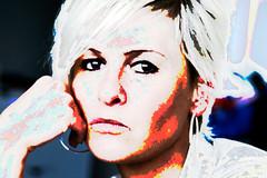 wat heeft hij er nu weer van gemaakt ? (roberke) Tags: fantasy face gezicht portrait portret woman vrouw female photomontage photoshop layers lagen textures textuur creation creative creatief
