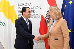 Außenministerin Kneissl empfängt der Außenminister von Zypern Christodoulides