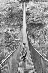 0777 Across The Bridge (Hrvoje Simich - gaZZda) Tags: outdoors people bridge nepal asia travel monochrome blackwhite nikon nikond750 nikkor283003556 gazzda hrvojesimich