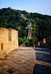 Down the Great Wall of China at Mutianyu (` Toshio ') Tags: toshio china greatwallofchina mutianyu architecture wall beijing asia asian chinese photography travel light shadwo nature mountain fujixt2 xt2