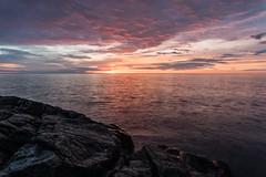 6 O'clock Bite (Aaron Springer) Tags: michigan upperpeninsulaofmichigan lakesuperior thegreatlakes lakeshore shoreline rock water dawn outdoor nature landscape