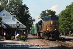 Trash Train (brickbuilder711) Tags: csx train q301 ashland virginia old dominion railroad depot amtrak maniest trash